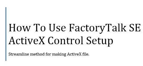 FactoryTalk ActiveX
