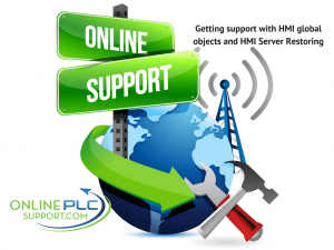 Getting support understanding HMI global objects and HMI Server Restoring