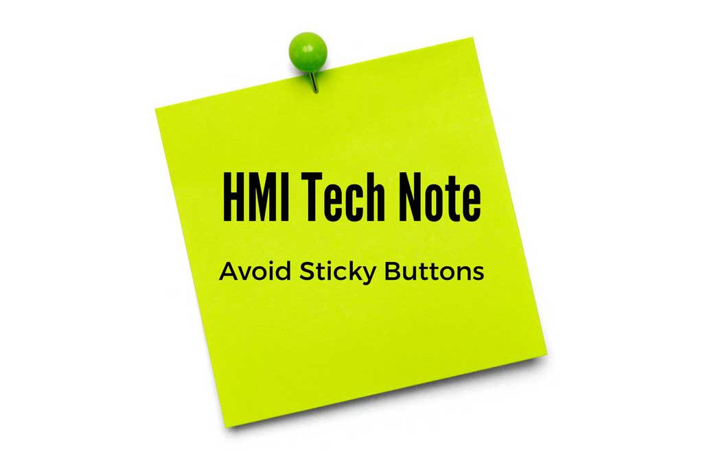 How to Avoid an Anti Sticky Button in FactoryTalk SE