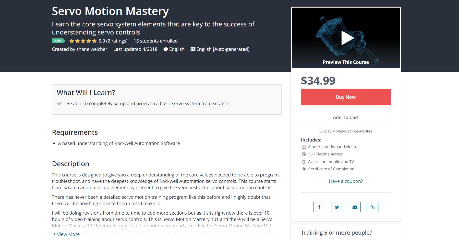 Servo Motion Mastery