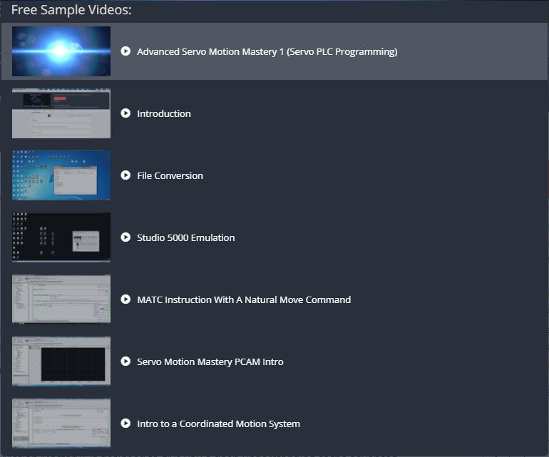 Udemy Advanced Servo Motion Mastery Samples | Online PLC Support