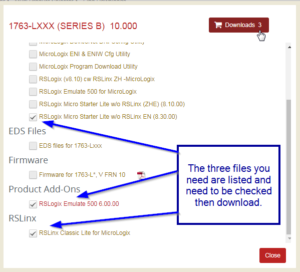 RSLogix Micro Proper Download Files