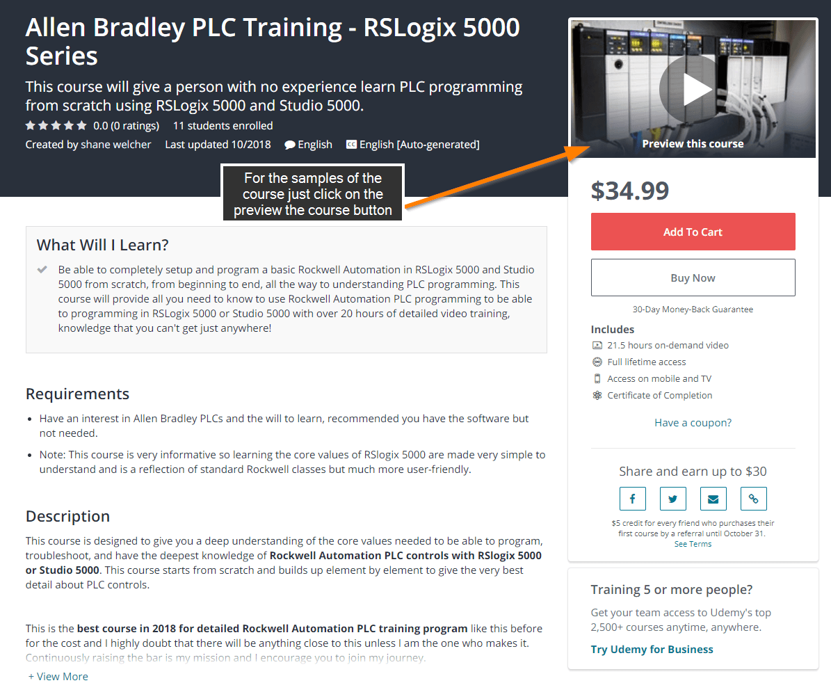 Allen Bradley PLC Training Samples