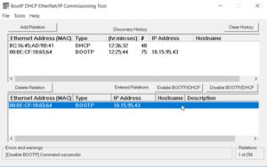 Disable BootP Server Success