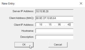 Set The IP Address In BootP